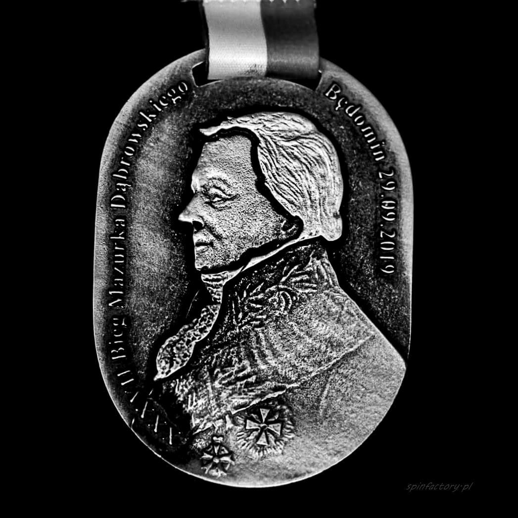Medal odlewany Bieg Mazurka Dąbrowskiego